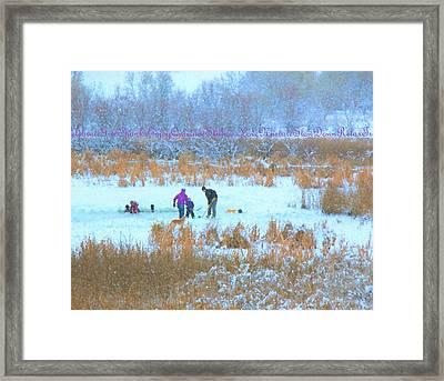 Christmas Day Framed Print by Kathy Bassett