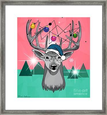 Christmas Deer Framed Print by Mark Ashkenazi