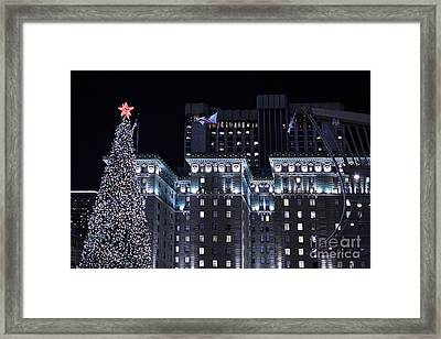 Christmas Eve 2009 At The Westin St Francis Sf Framed Print by Wingsdomain Art and Photography