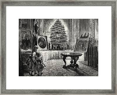 Christmas Eve At Windsor Castle Framed Print by English School