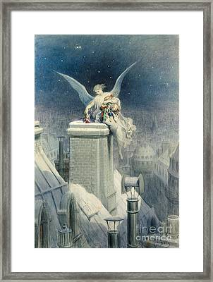 Christmas Eve Framed Print by Gustave Dore