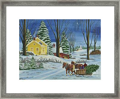 Christmas Eve In The Country Framed Print by Charlotte Blanchard