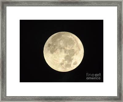 Christmas Morning Full Moon 2015 Framed Print by D Hackett
