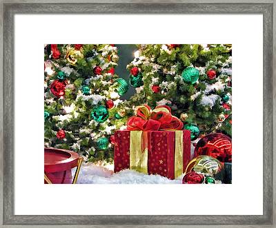 Christmas Gift Framed Print by Christopher Arndt