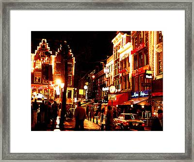 Christmas In Amsterdam Framed Print by Nancy Mueller