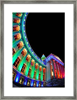Christmas Lights Of Denver Civic Center Park Framed Print by Kevin Munro