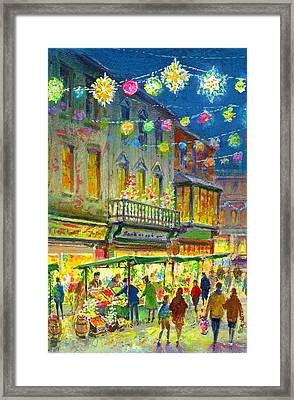 Christmas Market Framed Print by Stanley Cooke
