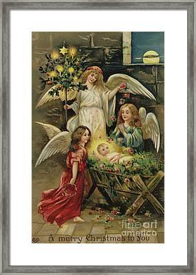 Christmas Nativity Scene Framed Print by English School