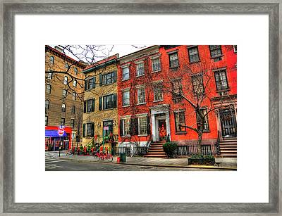 Christmas On Grove Street Framed Print by Randy Aveille