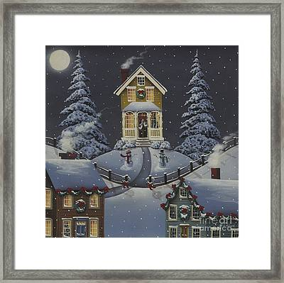 Christmas On Hickory Hill Framed Print by Catherine Holman