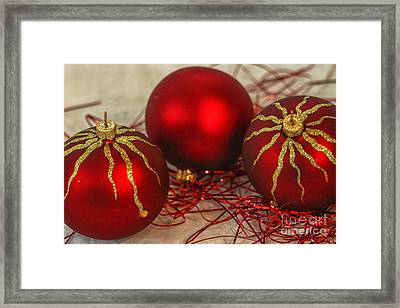 Christmas Ornaments Framed Print by Patricia Hofmeester