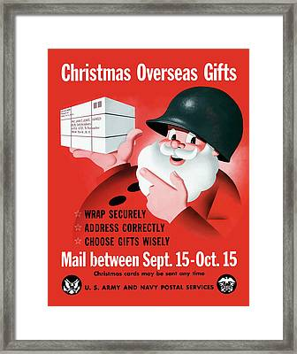 Christmas Overseas Gifts -- Ww2 Framed Print by War Is Hell Store