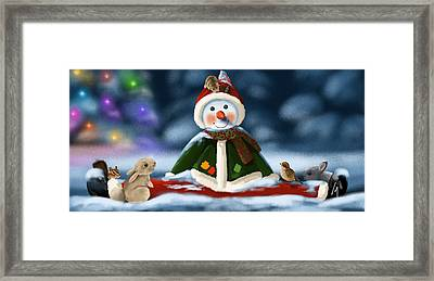 Christmas Party Framed Print by Veronica Minozzi