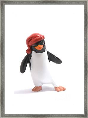 Christmas Penguin Framed Print by Andy Smy