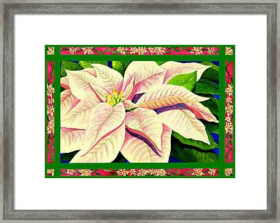 Christmas Poinsettia Framed Print by Janis Grau