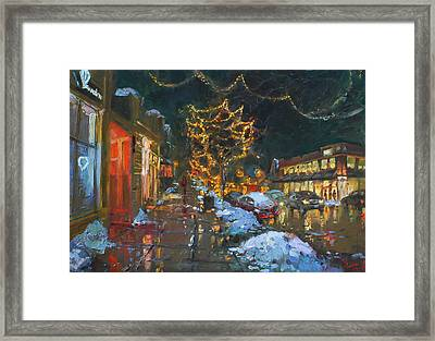 Christmas Reflections Framed Print by Ylli Haruni