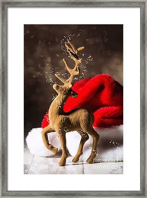 Christmas Reindeer Framed Print by Amanda Elwell