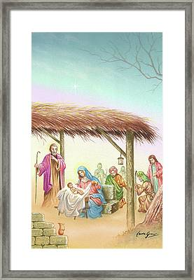 Christmas Scene 1 Framed Print by Laura Greco