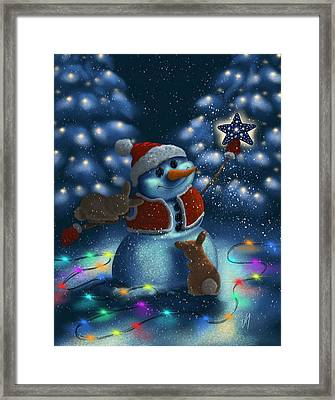 Christmas Season Framed Print by Veronica Minozzi