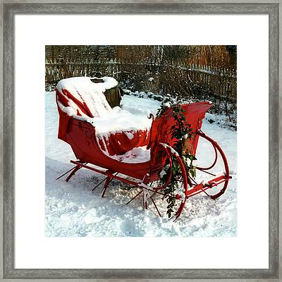 Christmas Sleigh Framed Print by Andrew Fare