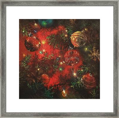 Christmas Sparkle Framed Print by Tom Shropshire