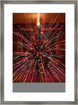 Christmas Tree Colorful Abstract Framed Print by James BO  Insogna