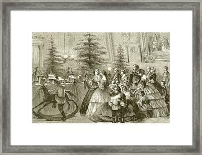 Christmas Tree Framed Print by English School