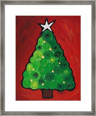 Christmas Tree Twinkle Framed Print by Sharon Cummings