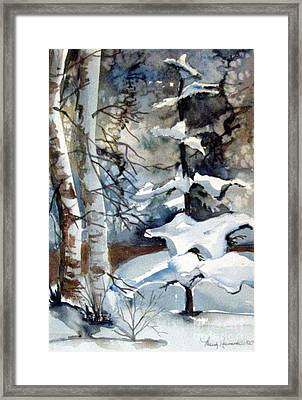Christmas Trees Framed Print by Mindy Newman