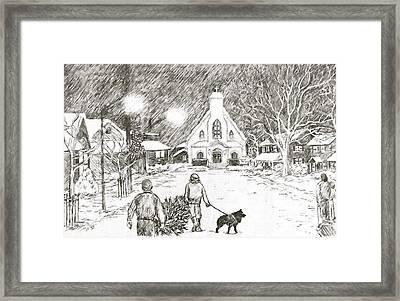 Christmas Village Framed Print by Janice Petrella-Walsh