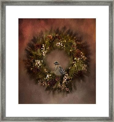 Christmas Wreath Framed Print by Kim Hojnacki