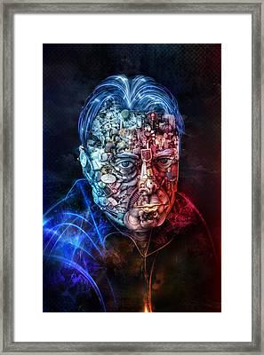 Christopher Hitchens Framed Print by Robert Palmer