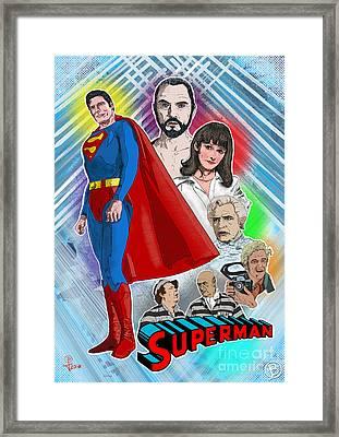 Christopher Reeve's Superman Framed Print by Joseph Burke