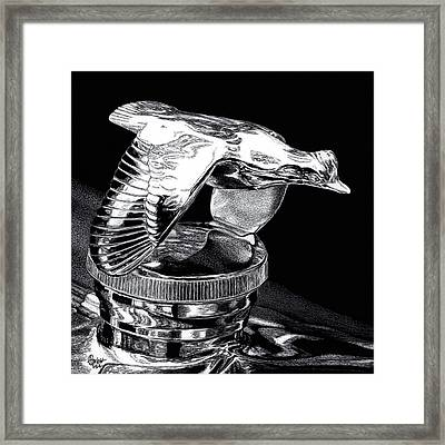 Chrome In Flight Framed Print by Ann Ranlett