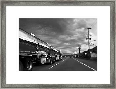 Chrome Tanker Framed Print by Theresa Tahara