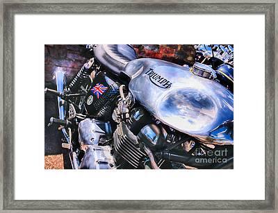 Chromed Cafe Racer Framed Print by Tim Gainey
