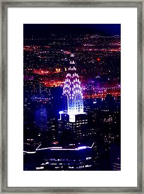 Chrysler Building At Night Framed Print by Az Jackson