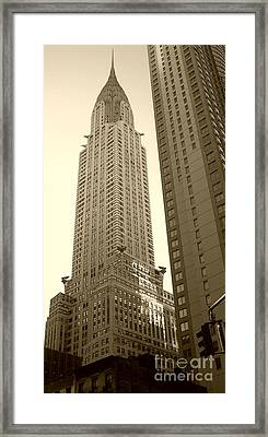 Chrysler Building Framed Print by Debbi Granruth