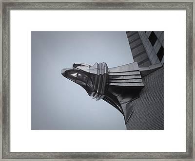 Chrysler Building Detail Framed Print by Naxart Studio