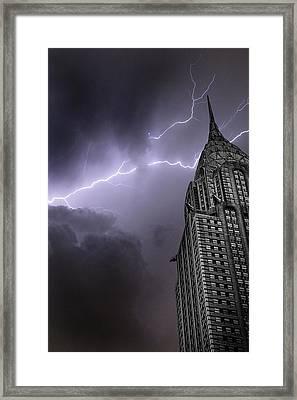 Chrysler Building Framed Print by Martin Newman