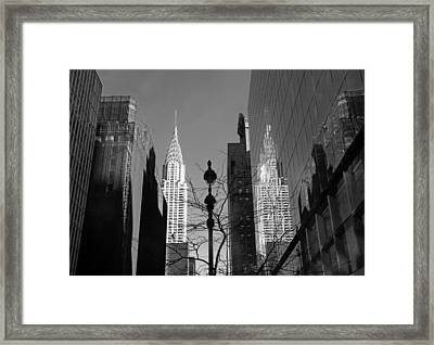 Chrysler Contrast Framed Print by Jessica Jenney