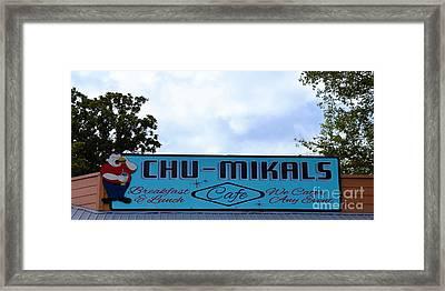 Chu - Mikals - Friendly Austin Texas Charm Framed Print by Ray Shrewsberry