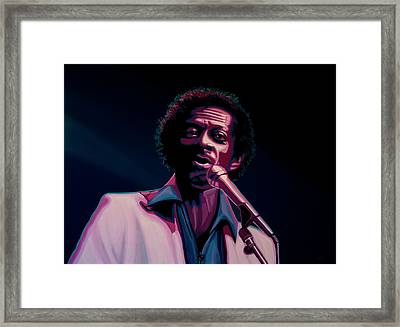 Chuck Berry Framed Print by Paul Meijering