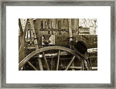 Chuck Wagon Tools Of The Trade Framed Print by Toni Hopper