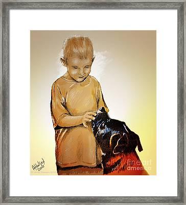 Chuey And Me II Framed Print by Arne Hansen