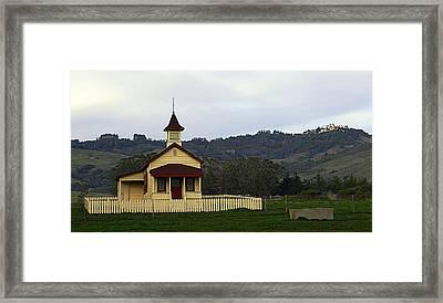 Church At San Simeon Framed Print by Ron Regalado