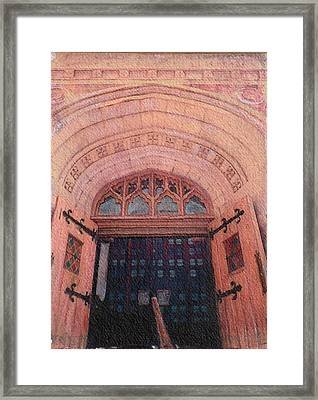 Church Doors Framed Print by Kenny King