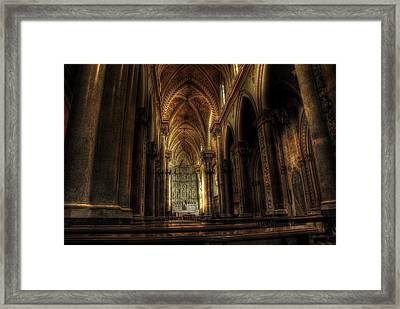 Church Erice Framed Print by Domenico Deluca