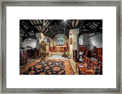 Church Hymns Framed Print by Adrian Evans