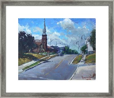 Church In Georgetown Downtown  Framed Print by Ylli Haruni